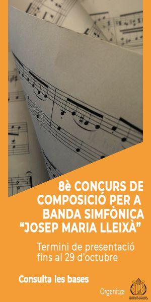 8è Concurs de Composició per a Banda Simfònica